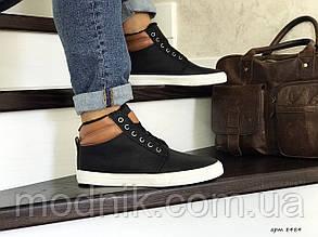 Чоловічі черевики Vintage (чорно-білі) ЗИМА