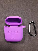 Чохол для навушників case Apple Airpods фіолетовий