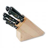 Нaбор ножeй MAM на деревянной подставке, светлое дерево 5шт №420