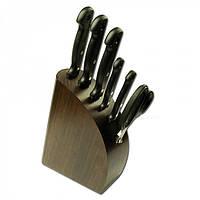 Нaбор ножeй MAM на деревянной подставке, темное дерево 5шт №430