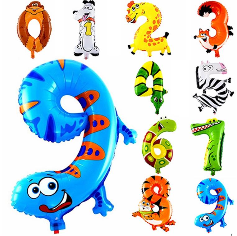 Шар воздушный, шарик с цифрами в виде животных!