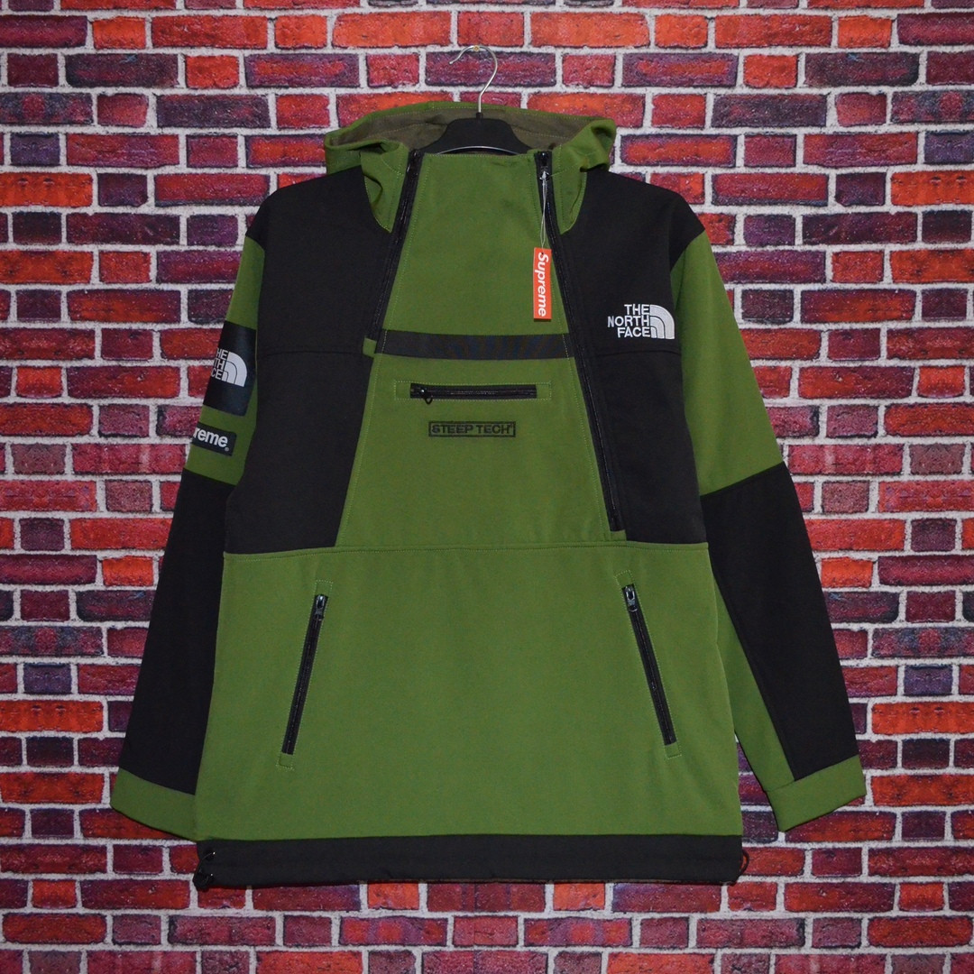 Кофта Supreme x The North Face SteepTech Green/black