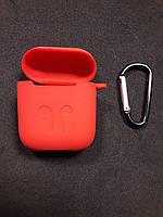 Чохол для навушників case Apple Airpods червоний