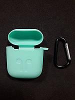 Чохол для навушників case Apple Airpods бірюзовий
