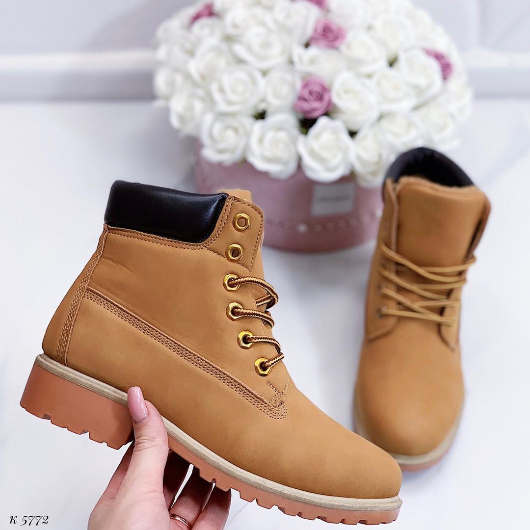 Коричневые зимние ботинки
