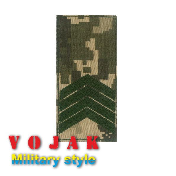 Погон ЗСУ Старший сержант (тк.NDU) 10*5см (732)