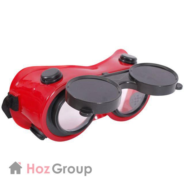 Очки газосварочные с откидным стеклом INTERTOOL