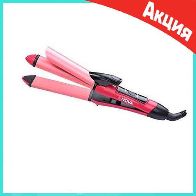 Плойка для волос утюжок 2 в 1 Nova | Выпрямитель для волос | Щипцы