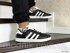 Чоловічі кросівки Adidas Gazelle (чорно-білі)