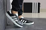 Мужские кроссовки Adidas Gazelle (черно-белые), фото 2