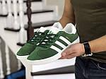 Мужские кроссовки Adidas Gazelle (зеленые), фото 2