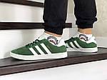 Мужские кроссовки Adidas Gazelle (зеленые), фото 5