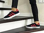 Женские кроссовки Adidas Gazelle (сине-красные), фото 2