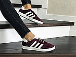 Женские кроссовки Adidas Gazelle (бордовые), фото 2