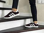 Женские кроссовки Adidas Gazelle (бордовые), фото 3