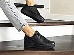 Женские кроссовки Nike Air Force (черные), фото 2