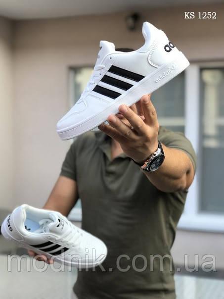 Мужские кроссовки Adidas La marque (черно/белые)