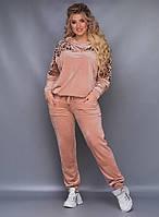 Женский велюровый спортивный костюм 48-50, 52-54, 56
