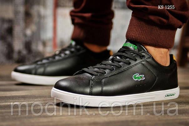 Мужские кроссовки Lacoste Sport (черно/белые)