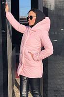 Женская стильная зимняя куртка Зефирка с капюшоном Разные цвета 42, 44, 46, фото 1