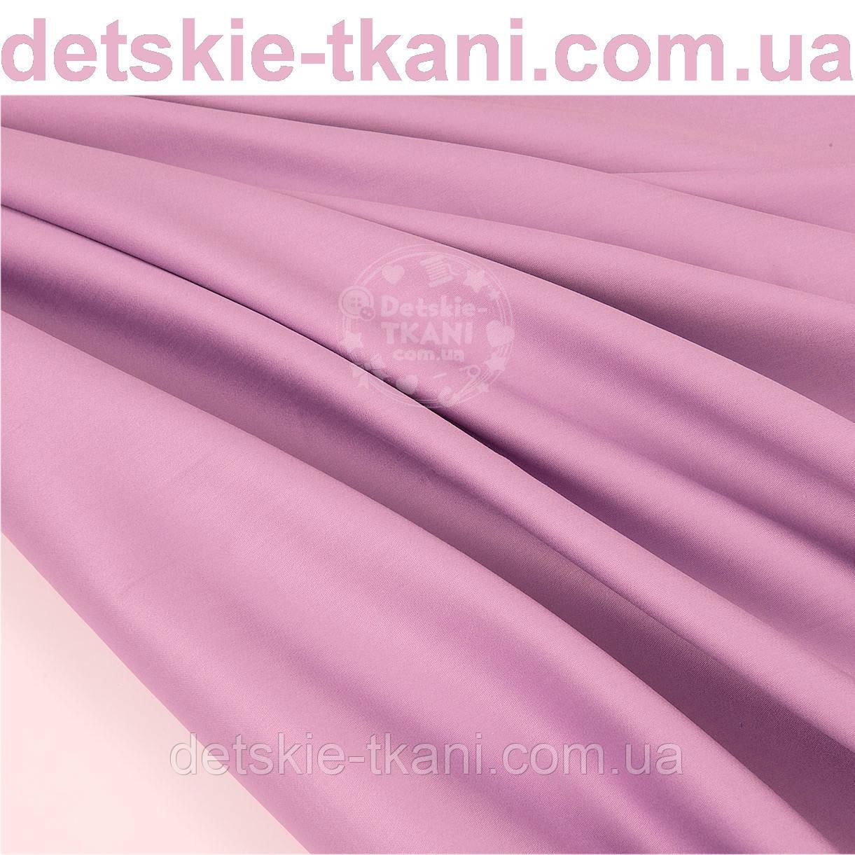 Лоскут сатина премиум, цвет фиалковый №1087, размер 35*120 см