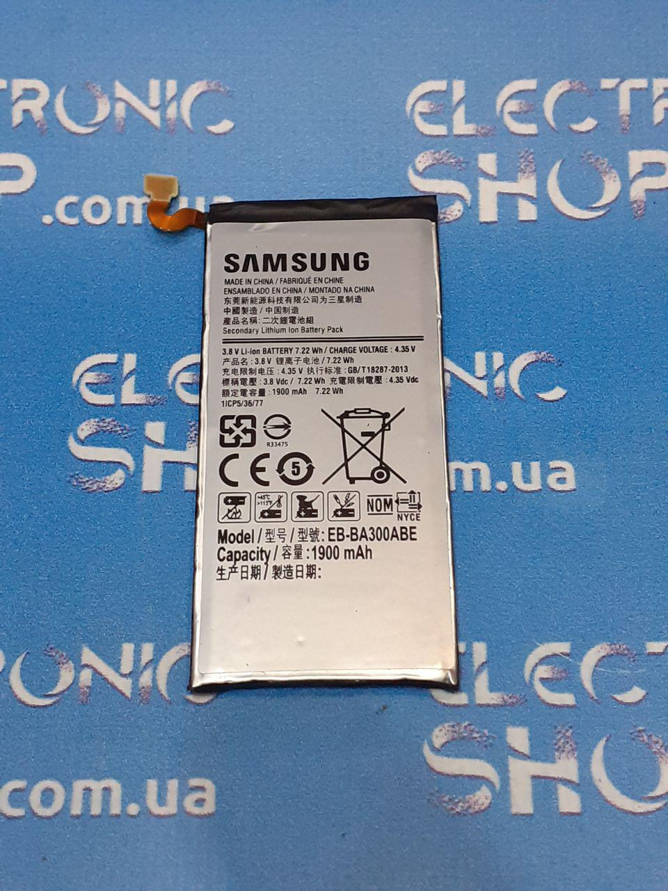 Аккумулятор Samsung EB-BA300ABE, 1900mAh A300F Galaxy A3, A300FU Galaxy A3, A300H  оригинал б.у