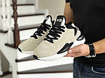 Мужские кроссовки Adidas Y-3 Kaiwa (бежевые), фото 4