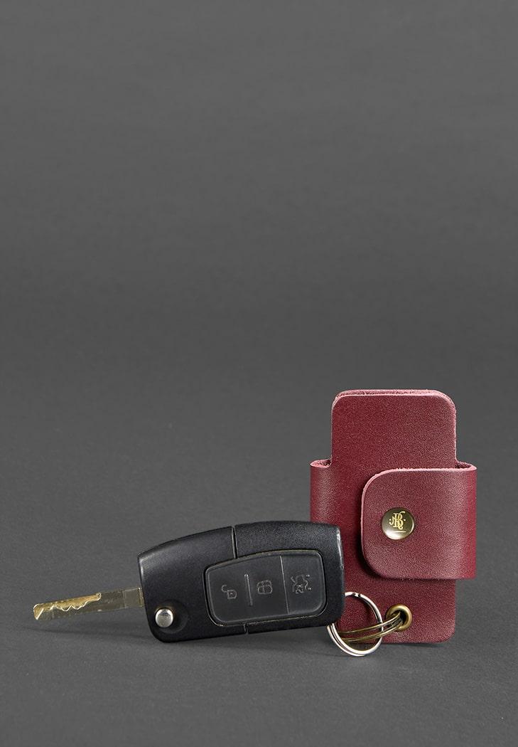 """Футляр из натуральной кожи для автосигнализации и автомобильного ключа """"Смарт-кейс"""""""