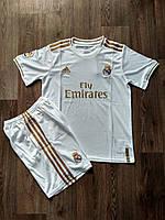 Детская футбольная формаРеал Мадрид/Real Madrid( Испания, Примера ), домашняя, сезон  2019-2020