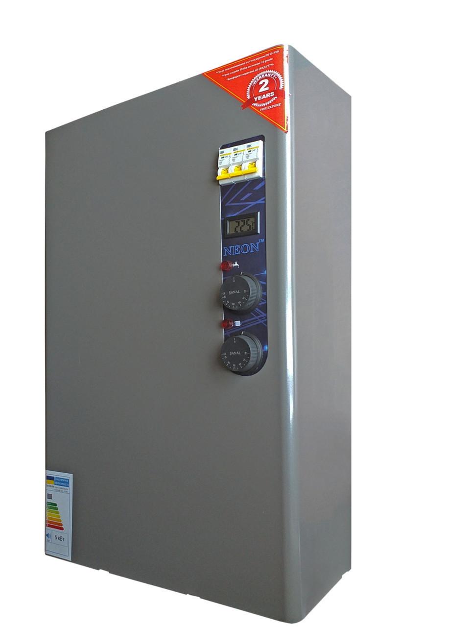 Двухконтурный котел TM NEON Classik WCSM/WH 12/12 кВт. Магнитный пускатель (с проточным нагревом воды)