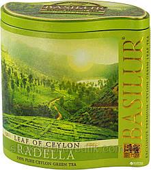 Зеленый чай Basilur Раделла, коллекция Лист Цейлона, ж/б 100г