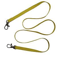 Шнурок для бейджа с двумя карабинами (сатиновый), 10мм