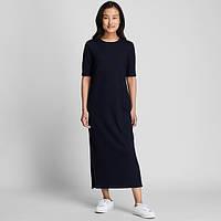 Женское темно-синее миди платье Uniqlo, фото 1