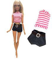 Кукольный костюм джинсовые шорты и футболка для куклы Барби, Блайз, Айси