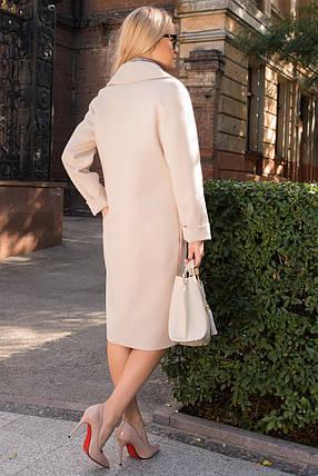 Женское осеннее пальто бежевое (р. S, M, L) арт. С-80-30/43985, фото 2
