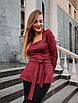 Женская кофта баска Красный, фото 2