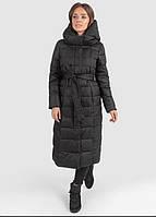 Женская зимняя длинная куртка-пальто на силиконе. Непромокаемая. до -25С. Большие размеры есть, фото 1
