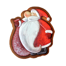 Трафарет + формочка-вырубка для пряника Дед мороз №10