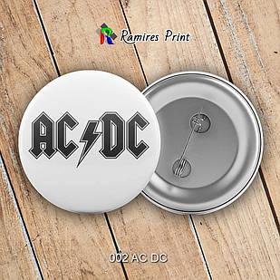 Значок AC DC 002