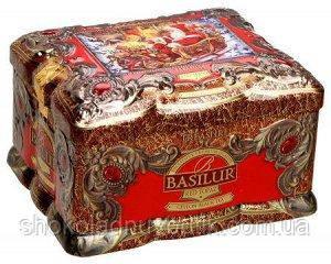 Черный чай Basilur Красный топаз, коллекция Ларец, ж/б 100г