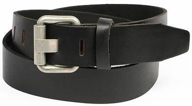 Мужской кожаный ремень под джинсы, Vanzetti, Германия, 100060 чёрный, 4х120 см