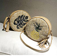 Модная женская соломенная сумочка