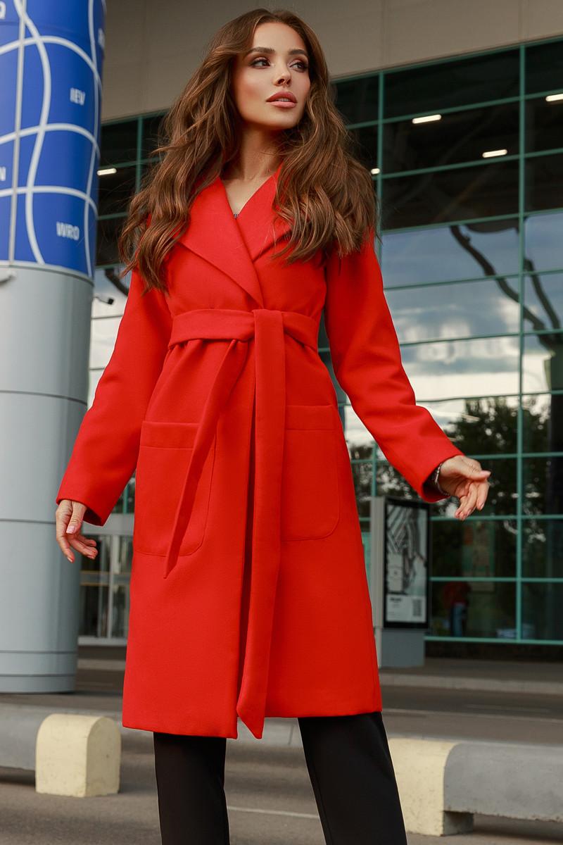 Женское пальто Красный