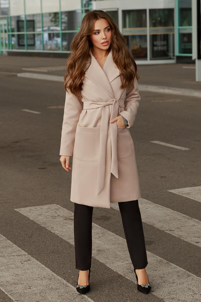 Женское пальто Бежевый