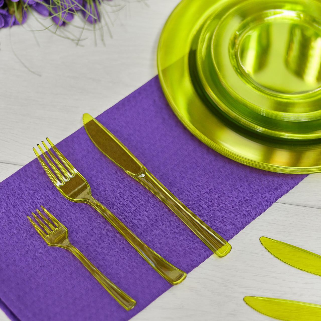 Ножи пластиковые, плотные  для детского праздника, дня рождения, кенди бара  CFP 12 шт 200 мм