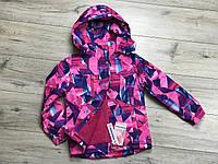 Зимняя куртка на синтепоне из водоотталкивающей ткани. Внурти мех травка.Съемный капюшон.8- 16 лет.