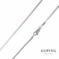 Цепочка Xuping плетение змейка s-1,4мм L-60см родий