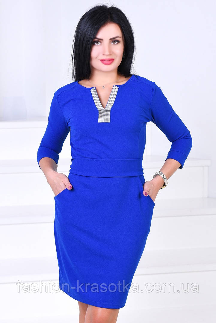 Женское нарядное платье,ткань креп-дайвинг,размеры:44,46.