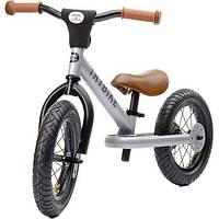Балансирующий велосипед (велобег) steel 2 в 1, цвет серебряный, Trybike, фото 1