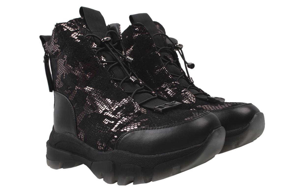 Ботинки женские зимние Stefaniya nina эко-замш + кожа, цвет черный, размер 36-40